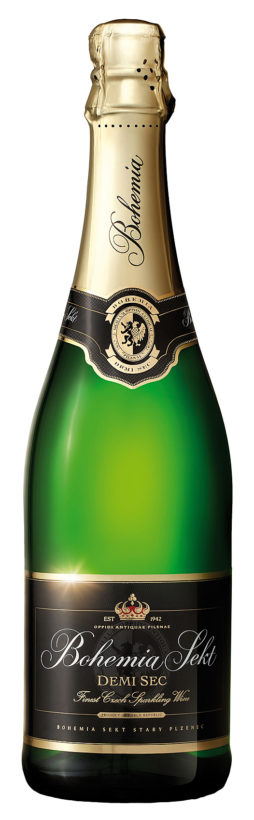 bohemia sekt bottle for all marketing use