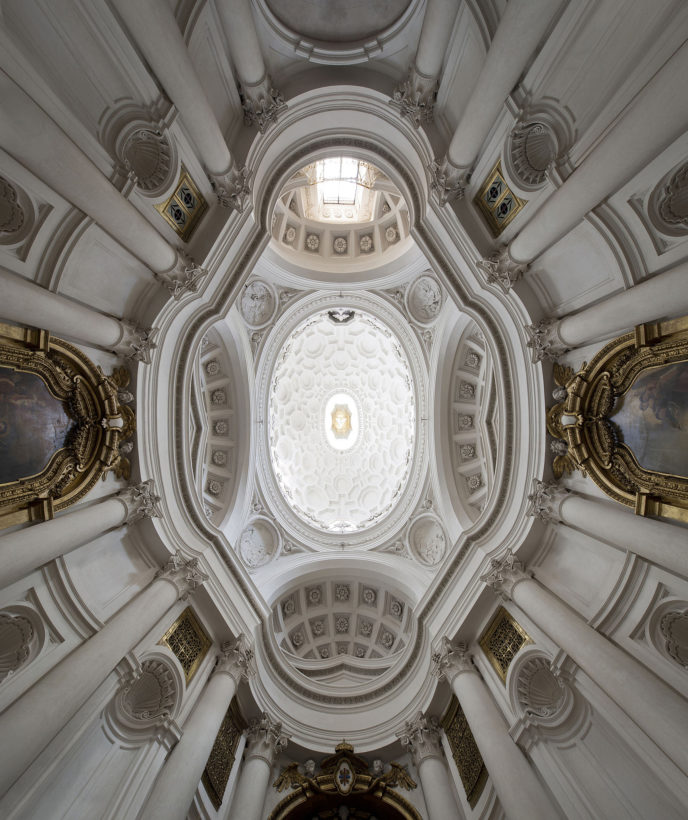 church San Carlo alle Quattro Fontane by Carlo Borromini -  Roma Italy