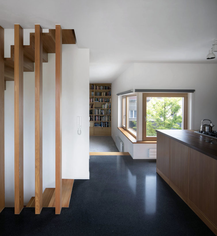 interior of family house at Benešov, Holiš Šochova architects