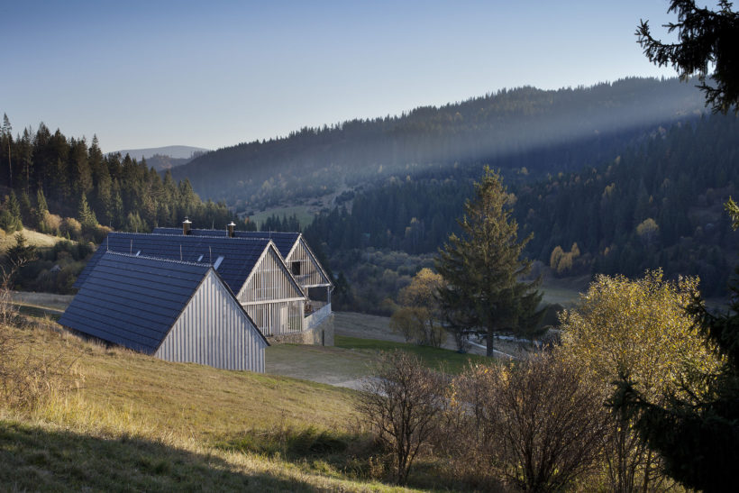 family weekend house by A.LT architects at Orava district , Slovakia