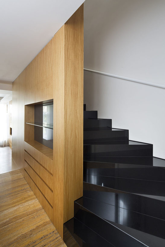 staircase made from black granite by architect Vit Pesina