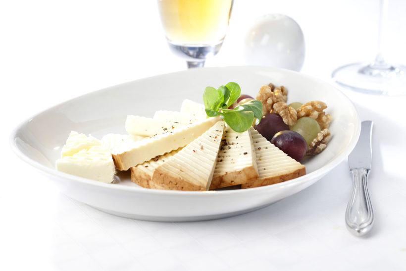 cheese, nuts and grapes, Hotel Zvon Ceske Budejovice