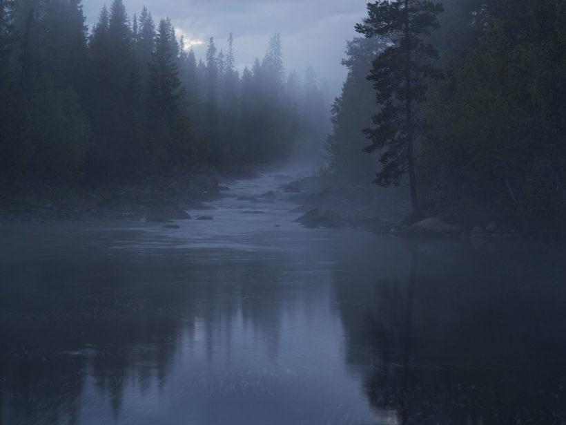 night at the TŠannŠan River Sweden