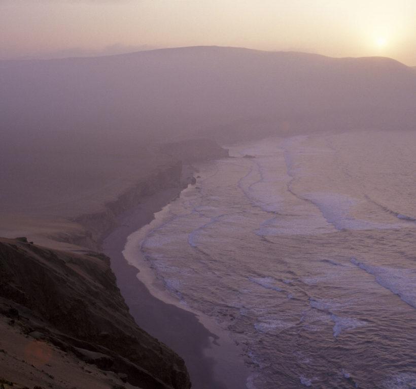 Peru pacific coast near Pisco