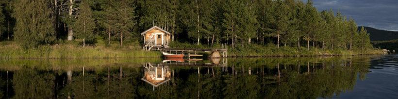 cabin at Sjulban river sweden